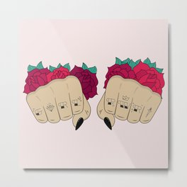 Fists / GRL PWR Metal Print