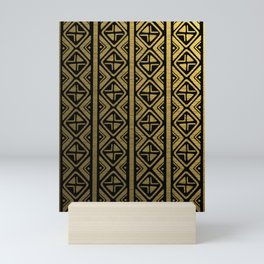 Golden Mud Cloth X Mini Art Print