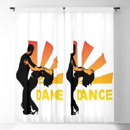 dancing couple silhouette - brazilian zouk Blackout Curtain