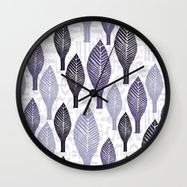 Leaves Standing Tall One Wall Clock