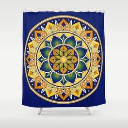 Italian Tile Pattern – Peacock motifs majolica from Deruta Shower Curtain