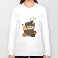 hetalia Long Sleeve T-shirts featuring Hetalia - Canada Loves Timmies  by BlacksSideshow