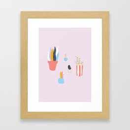 Lil' Plants Framed Art Print