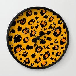 Cheetah skin pattern design Wall Clock