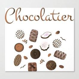 Chocolatier Chocolate Candies Canvas Print