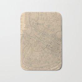 Vintage Map of New Orleans LA (1908) Bath Mat