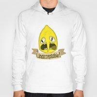 lemongrab Hoodies featuring Lemongrab Unacceptable by Kam-Fox