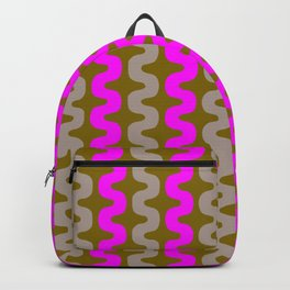 pink and grey gold pattern Backpack