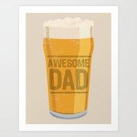 dad Art Prints featuring DAD by Kiley Victoria