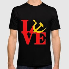 L O V E  Black SMALL Mens Fitted Tee