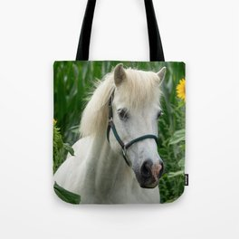 Horse and Sunflowers Tote Bag