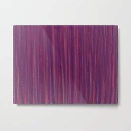 Stripes  - purple and red Metal Print