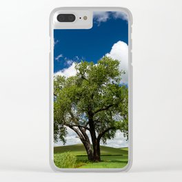 Tree with Grass Blades Clear iPhone Case