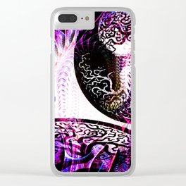 Purple Opposition Clear iPhone Case