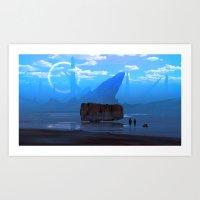 Iron sea Art Print