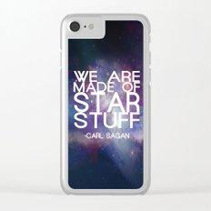 Carl Sagan Quote - Star Stuff Clear iPhone Case