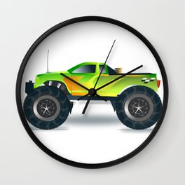 Monster Truck Toy Design Wall Clock