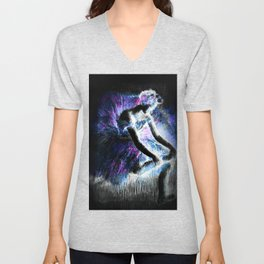 The Dancer Degas Purple Pink Blue Unisex V-Neck