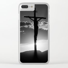 Christ of the Cross. Clear iPhone Case