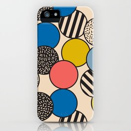 Memphis Inspired Pattern 5 iPhone Case