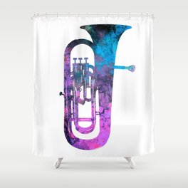 euphonium music Shower Curtain