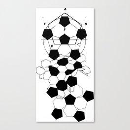 Soccer Football Ball pattern design  Canvas Print
