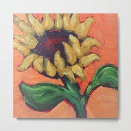 Orange Sunflower Metal Print