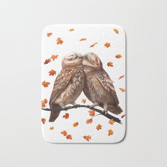 autumn owl Bath Mat