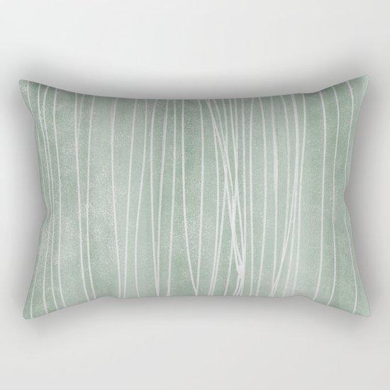 pin stripe soothe Rectangular Pillow