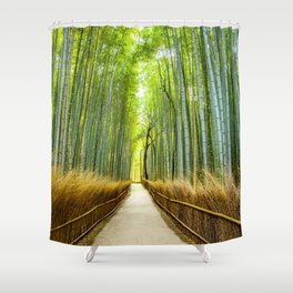Bamboo Forest Japan Shower Curtain