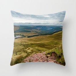 Welsh views Throw Pillow