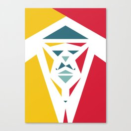 Five Triangle Faces - The Entertainer Canvas Print