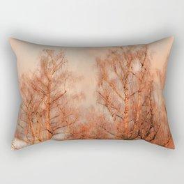 TREES AT SUNSET Rectangular Pillow