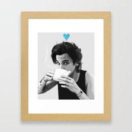 """"""" Black&White tea """" Framed Art Print"""