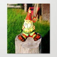 gnome Canvas Prints featuring Gnome by Raffaella315