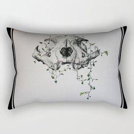 Animal Skull With Vines Rectangular Pillow