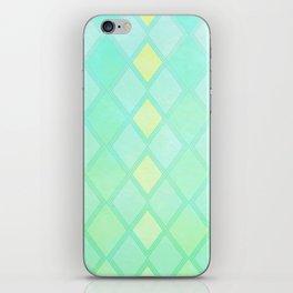 Checkered Mint iPhone Skin