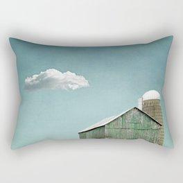 Green Barn and a Cloud Rectangular Pillow
