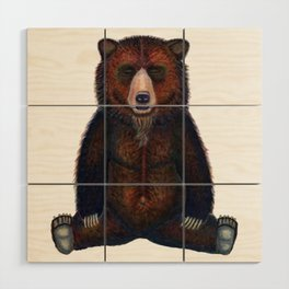 Blissed Out Bear Wood Wall Art