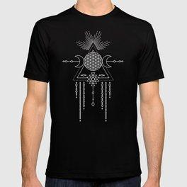 Mandala Flower of Life in Turquoise Stars T-shirt