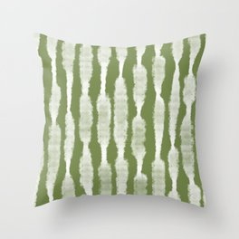 Tie Dye no. 2 in Green  Throw Pillow