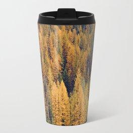 Autumn Tamarack Pine Trees Travel Mug