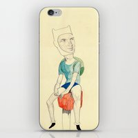 finn iPhone & iPod Skins featuring Finn by withapencilinhand