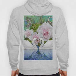 Swans and Roses Hoody