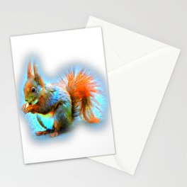 Squirrel in modern style Stationery Cards