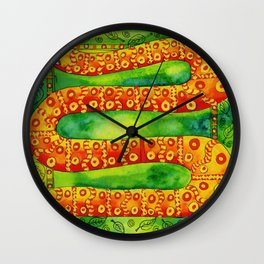 Patterned Snake Wall Clock