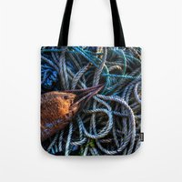 tangled Tote Bags featuring Tangled by Caroline Benzies Photography