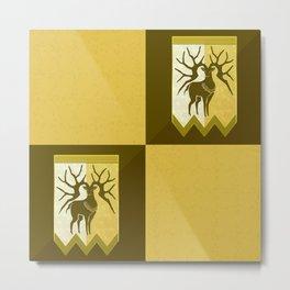 Golden Deer Background Metal Print