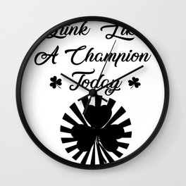 St Patrick's Day Drink Beer Funny Wall Clock