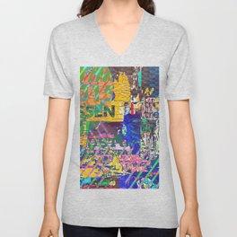 Tropical Pop Art Painting Unisex V-Neck